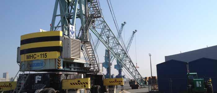 maintenance grue portuaire