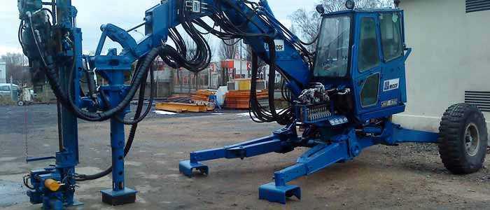 machine de forage et fondation